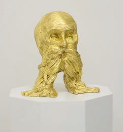 David Price, The Emperor Is Dead, 2010, gold-leaf gilded jesmonite, edition of 3, 24 x 20 x 21 cm, £3,500