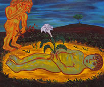 Eileen Cooper, Play Dead, 1991, oil on canvas, 152 x 168 cm