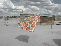 Graeme Williams, Painting Over the Present: Phutanang Township, Kimberley, 2011, image size 41 x 55 cm