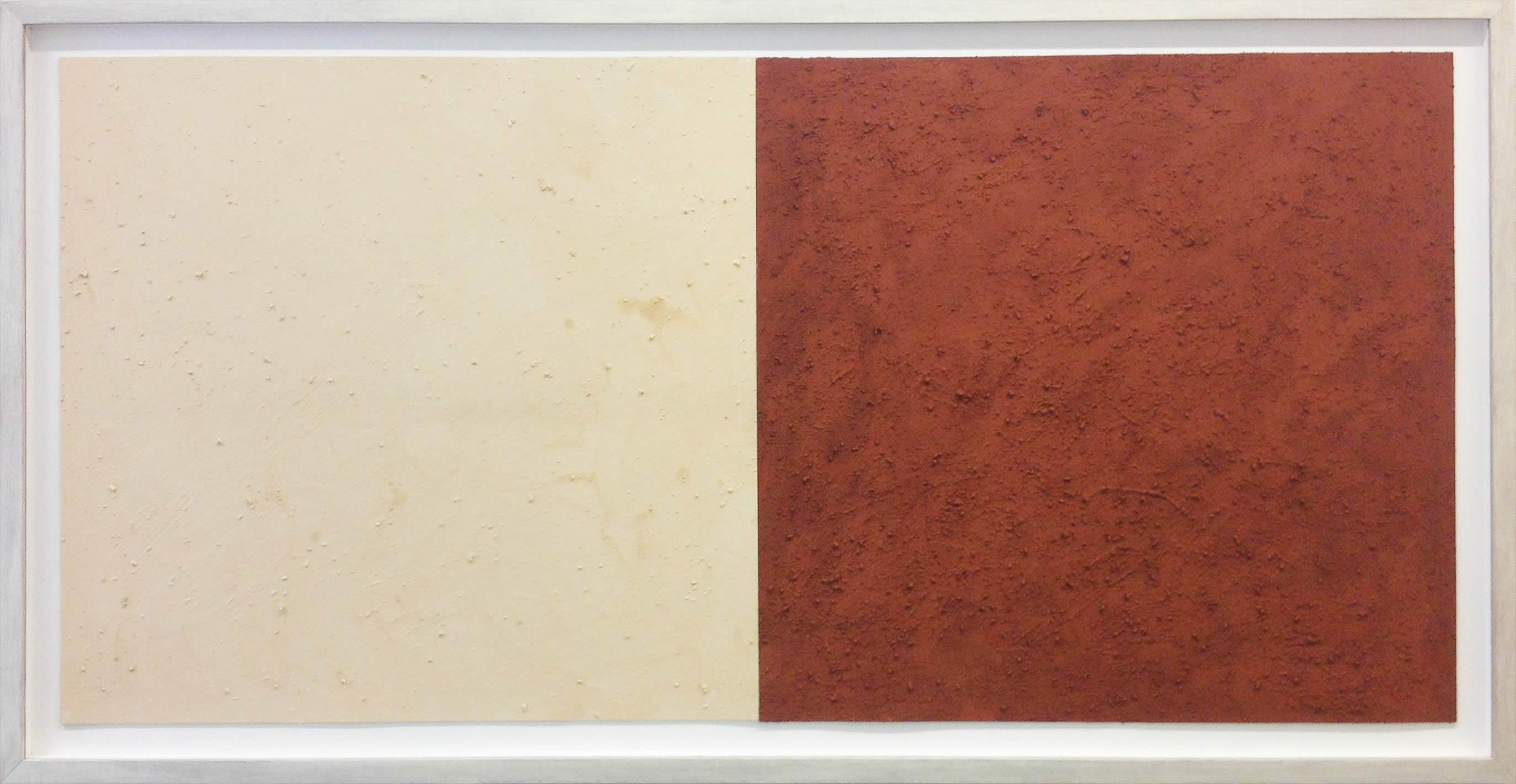 Karel Nel, Potent Fields, 2002, red and white ochre from the Trankei, South Africa, 122 x 242 cm