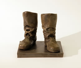 Liane Lang, Boots, 2013, cold cast bronze, edition of 3, 20 x 20 x 25 cm, £3,400