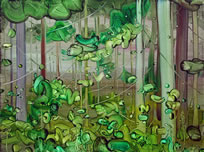 Mimei Thompson, Forest Painting, 2015, oil on canvas, 60 x 80 cm