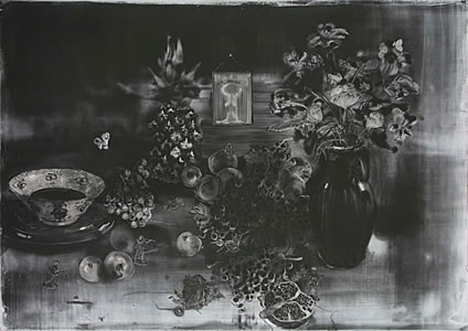 Christopher Cook, Skirmish, 2017, graphite on paper, 72 x 100 cm