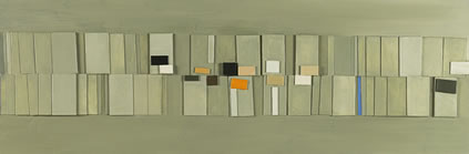 Wilhelmina Barns-Graham, Birsay II, 1982, acrylic on hardboard (collage), 35.5 x 106 cm