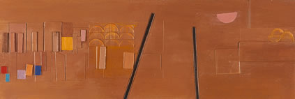 Wilhelmina Barns-Graham, Crail 5, 1984, oil and acrylic on card, 15.5 x 45.5 cm