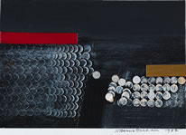 Wilhelmina Barns-Graham, Number 28, Painting in Relief, 1982, oil and acrylic on card (collage), 13.8 x 20 cm