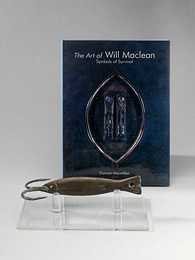 Will Maclean, Symbols of Survival (Special Edition), 1996, signed copy of the Will Maclean monograph, with bronze 'cod jigger' sculpture, from the edition of 40, £600