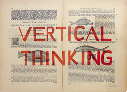 William Kentridge, Rubrics: Vertical Thinking, 2013, silkscreen on 18th C encyclopedia pages, 43 x 55 cm